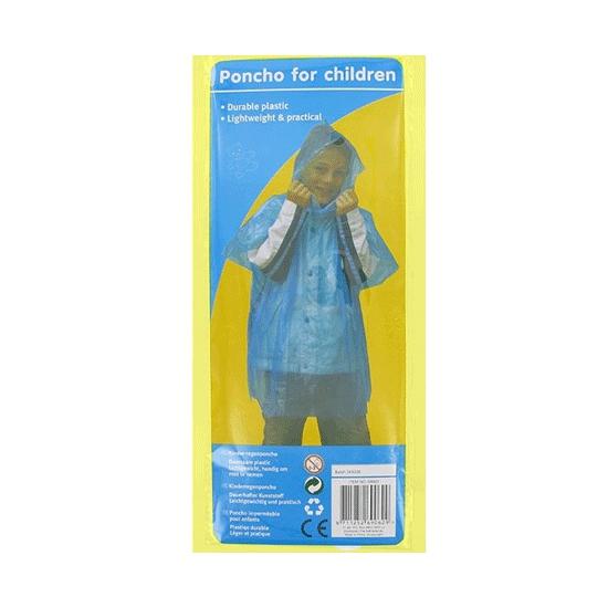 Wegwerp regenponcho voor kinderen