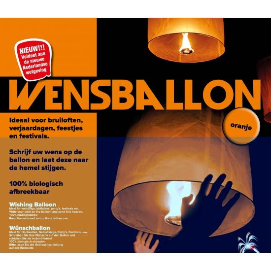 Wensballon oranje