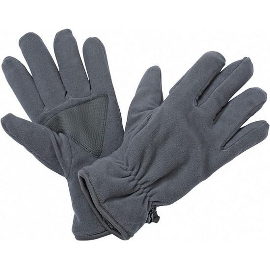 Winter fleece handschoenen donkergrijs
