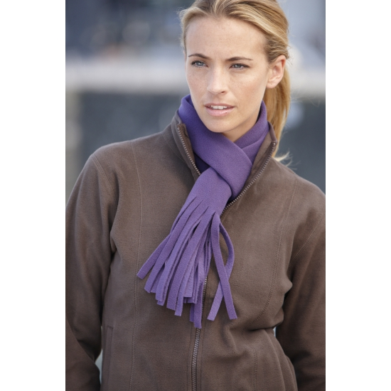 Winter fleece sjaal met franjes