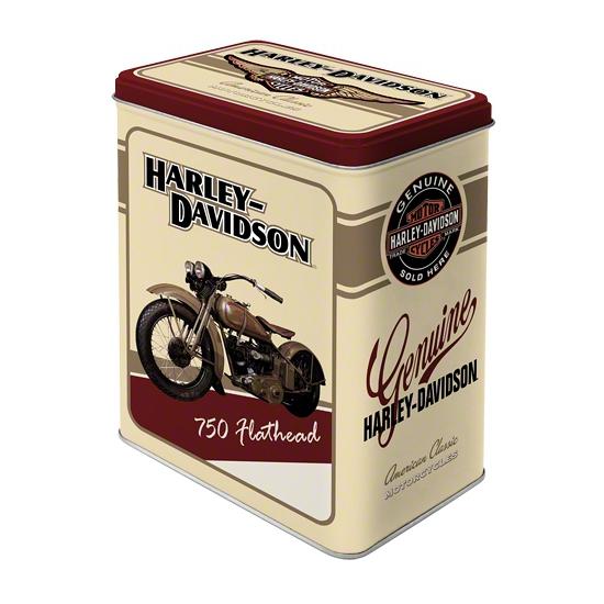Wit bewaarblik Harley Davidson 20 cm