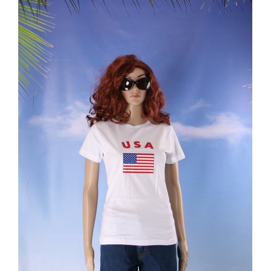 Wit dames t shirt USA