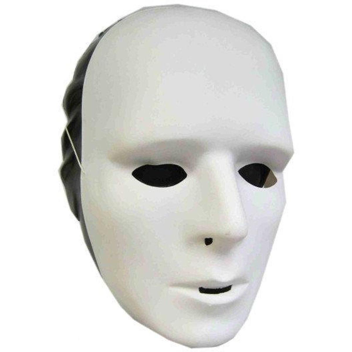 Wit grimeer masker van plastic