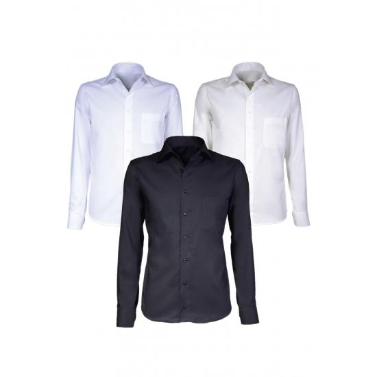 Witte maatpak overhemd