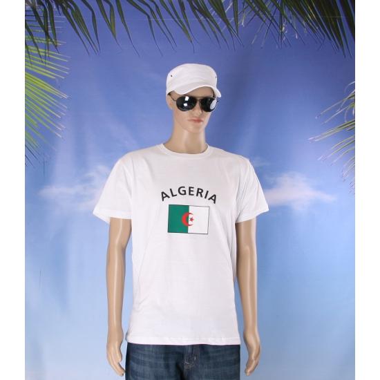 Wit heren t shirt Algerije