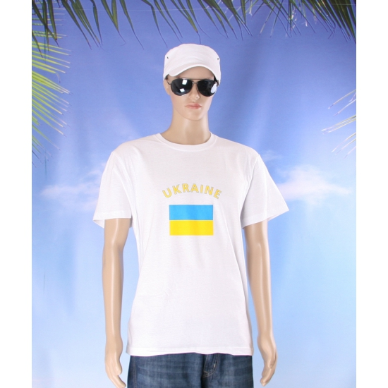 Wit heren t shirt Oekraine
