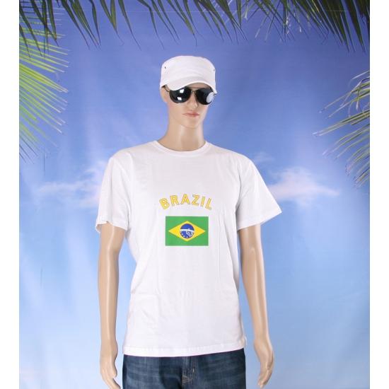 Wit t shirt Brazilie volwassenen
