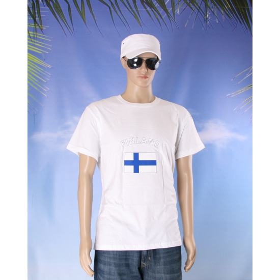 Wit t shirt Finland volwassenen