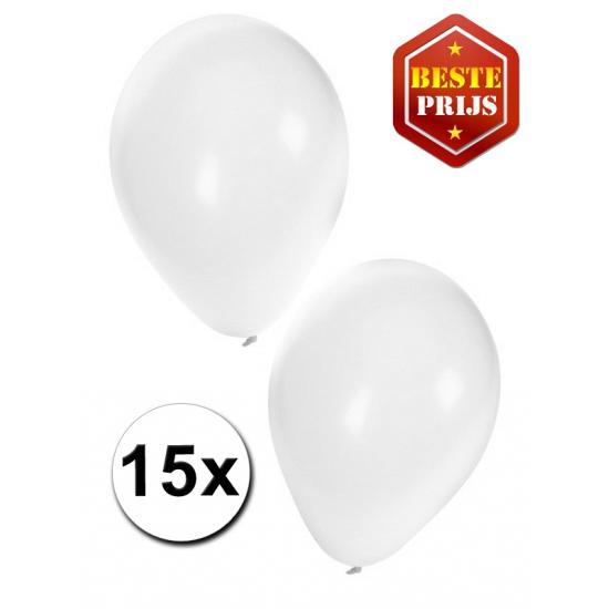 Witte ballonnen 15 stuks