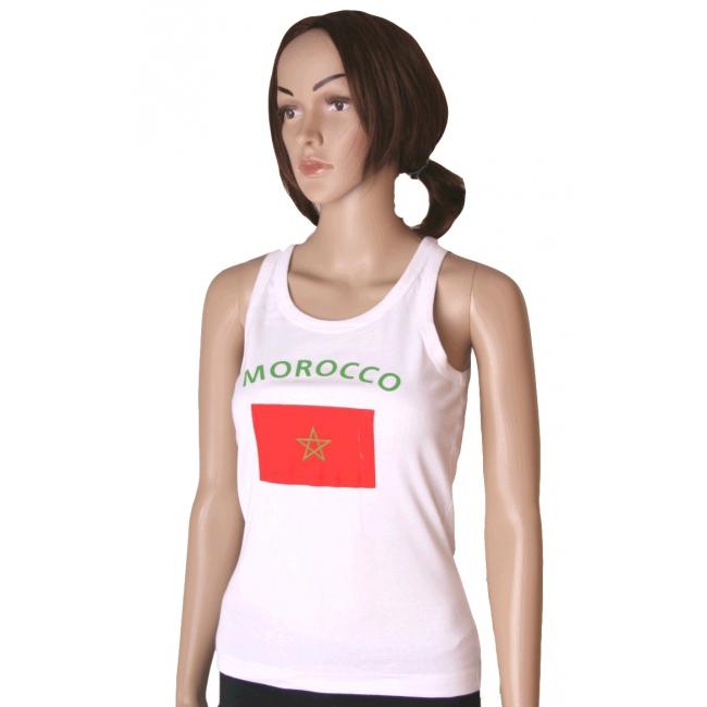 Witte dames tanktop Marokko