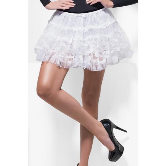 Witte kanten petticoat voor dames