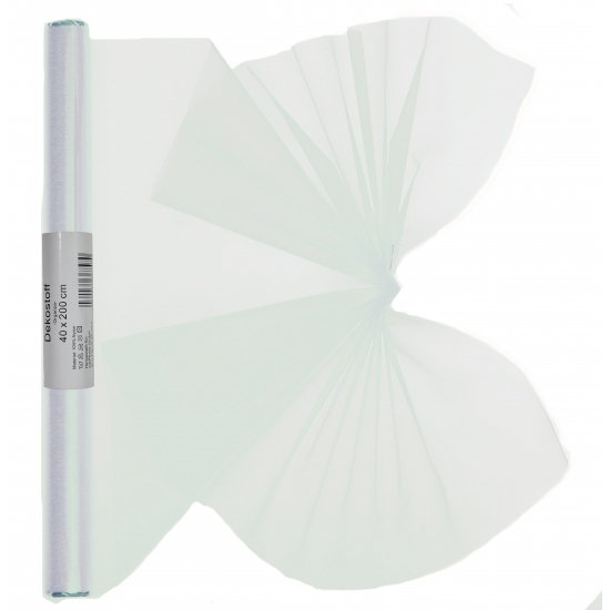 Witte organza op rol 40 x 200 cm