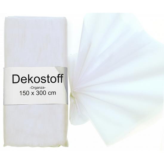 Witte organza stoffen 150 x 300 cm