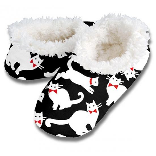 Zachte winter pantoffels katten print