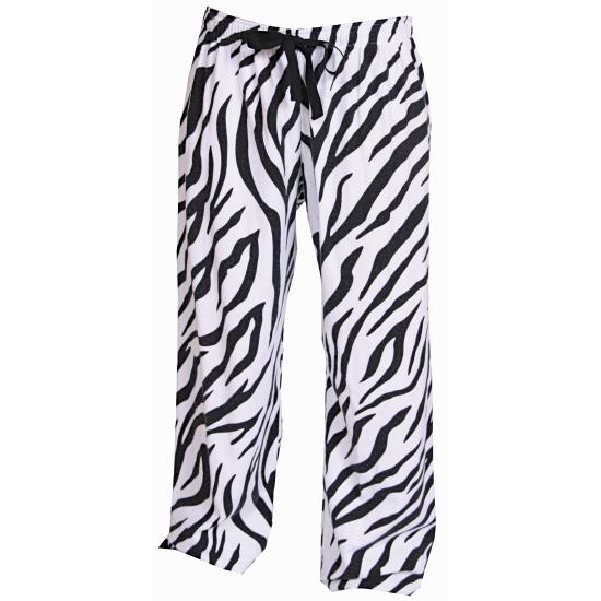 Zebra broek katoenflanel