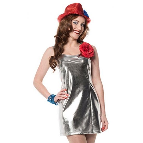 Zilveren disco kleding dames