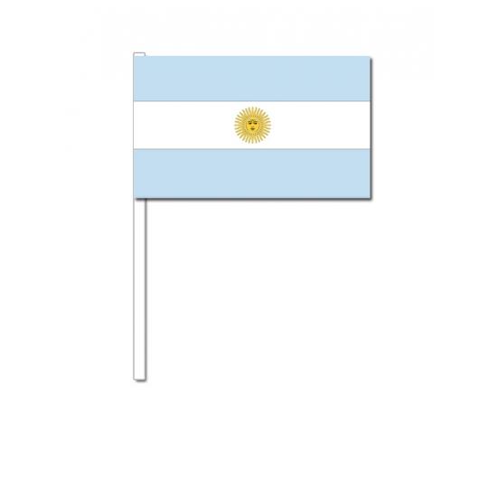 Zwaaivlaggetjes Argentinie 12 x 24 cm