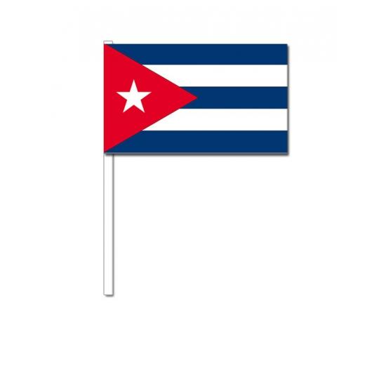 Zwaaivlaggetjes Cuba 12 x 24 cm