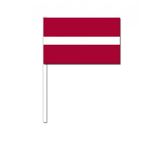 Zwaaivlaggetjes Letland 12 x 24 cm