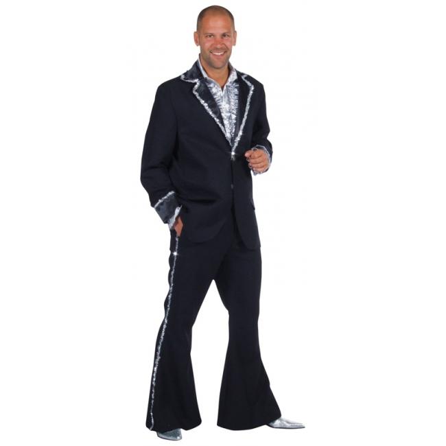 Luxe zwart disco pak heren