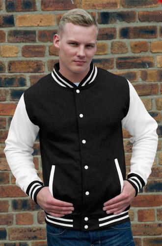 Zwart met wit jacket voor heren