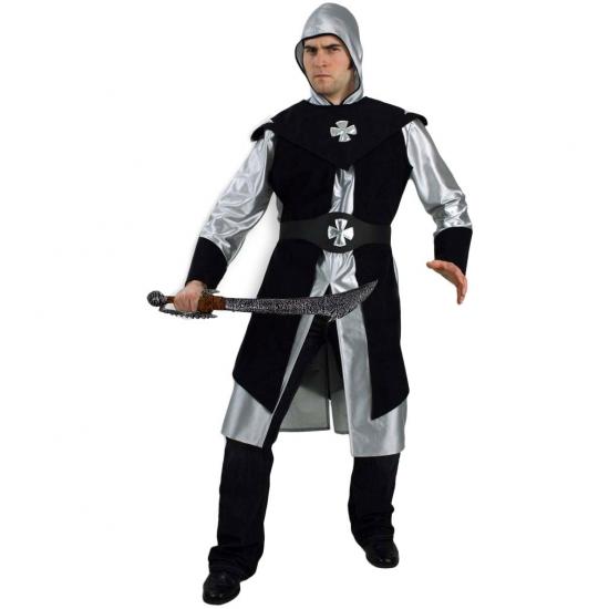 Zwart ridder kostuum voor heren