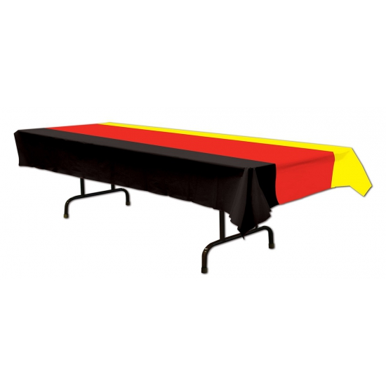 Zwart rood geel tafelkleed