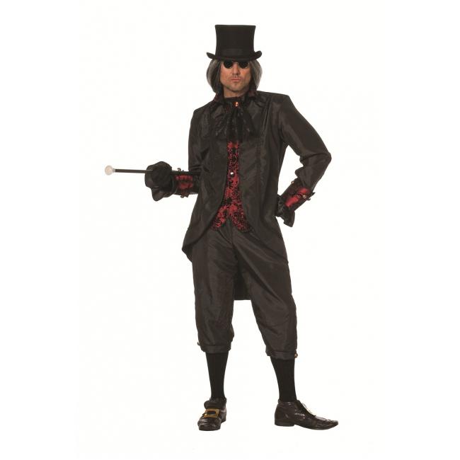 Zwart steampunk kostuum voor heren