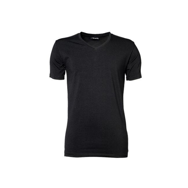 Zwart stretch shirt met V hals