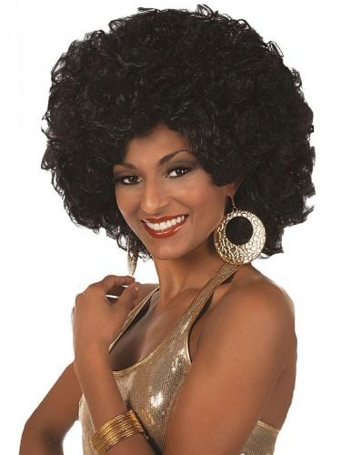 Zwarte afro pruik voor dames