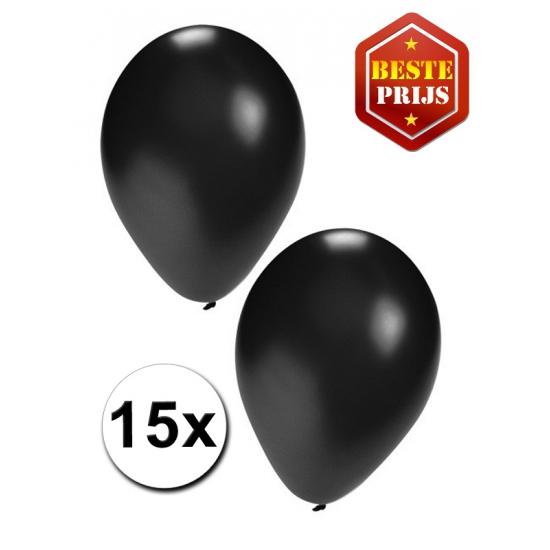 Zwarte ballonnen 15 stuks