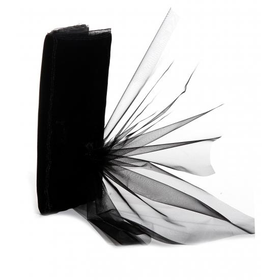 Zwarte organza stoffen 150 x 300 cm