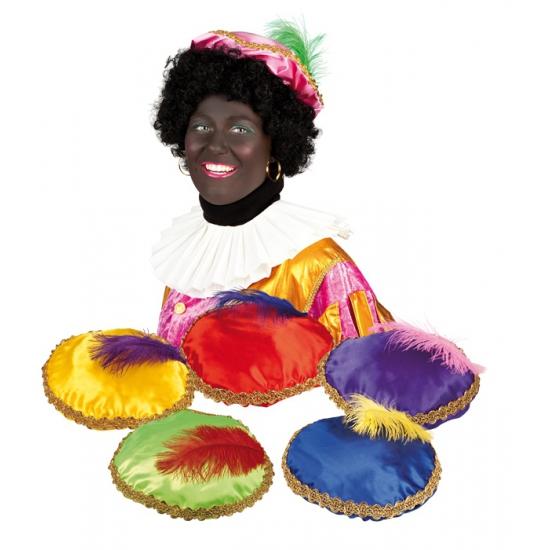 Zwarte Piet baret paars