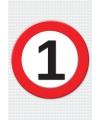 1 jaar verkeersbord mega deurposter