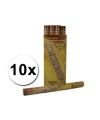 10 confetti shooters 60 cm goud