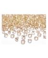 10 decoratie diamantjes goud 2 cm