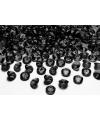 10 decoratie diamantjes zwart 2 cm