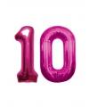 10 jaar folie ballonnen roze