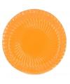 10 oranje bordjes 29 cm