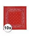 10 rode boeren zakdoeken 50 x 50 cm