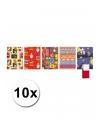 10 rollen sinterklaas kadopapier 200 x 70 cm