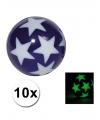 10 stuiterballen glow in the dark sterren