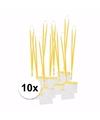 10 x badgehouder met geel keycord per stuk