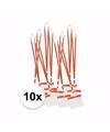 10 x badgehouder met rood keycord per stuk