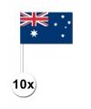 10 zwaaivlaggetjes australie 12 x 24 cm