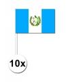 10 zwaaivlaggetjes guatemala 12 x 24 cm