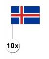 10 zwaaivlaggetjes ijsland 12 x 24 cm