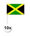 10 zwaaivlaggetjes jamaica 12 x 24 cm