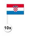 10 zwaaivlaggetjes kroatie 12 x 24 cm