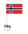 10 zwaaivlaggetjes noorwegen 12 x 24 cm